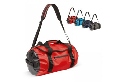 Strong, weather resistant expedition duffel bag. With welded seams it keeps the contents dry and clean. A multitude of pockets makes it extremely easy to keep it organized. Comes with an adjustable and detachable shoulder strap and a multitude of compression straps.