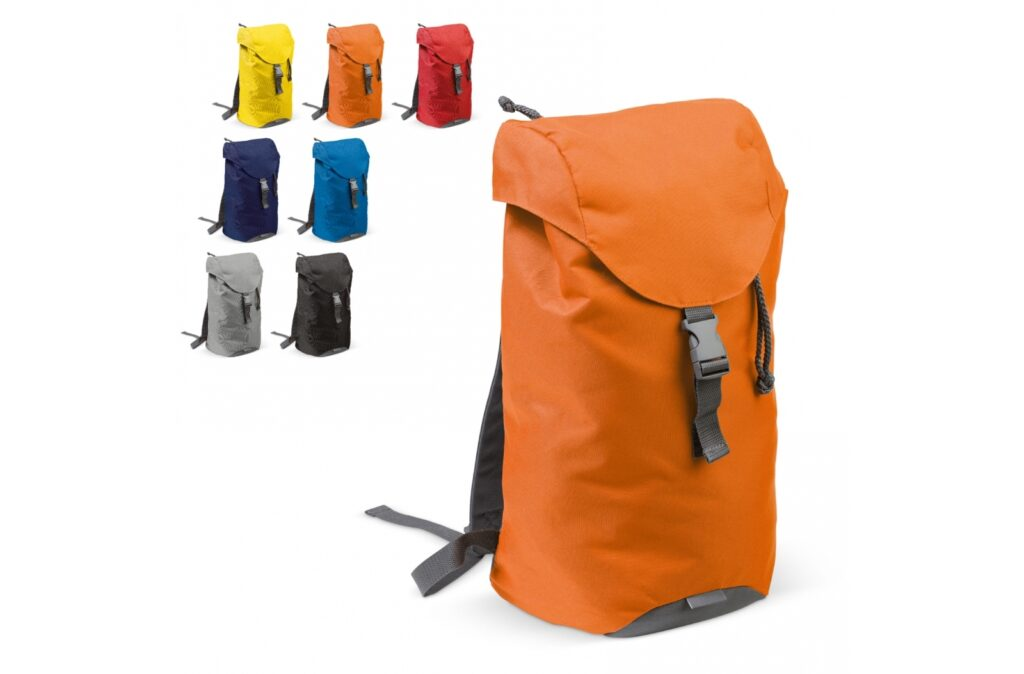 Spacious backpack suitable for outdoor activity for example. The main compartment can be closed by a drawstring and the adjustable strap gives plenty of flexibility when packing extra. There is an additional zipper pocket on the cover. The reflective patch enhances visibility in the dark.