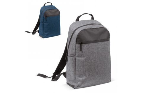 Convenient backpack with a stylish and formal design for everyday use. The pocket on the front has a zipper closure. On the side a special pocket for a bottle can be found.