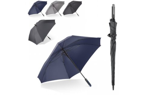 Go in style with this large and luxurious umbrella. It's striking square design creates a larger surface and is big enough for two persons. The frame is full fibreglass and wind proof.