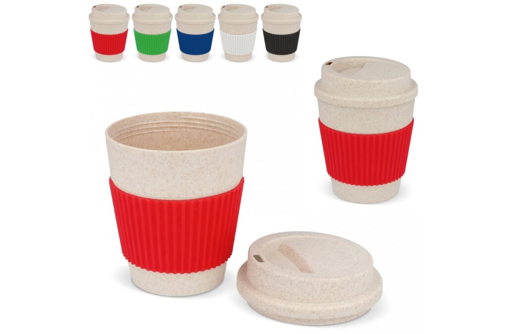 This reusable bamboo fiber coffee mug is developed to reduce the waste of one-time use coffee cups. Every year, hundreds of millions of cups end up in the garbage. This cup is BPA free and made of 50% bamboo fiber, giving it a fantastic ECO look. Not available in the Benelux, Sweden and Norway.