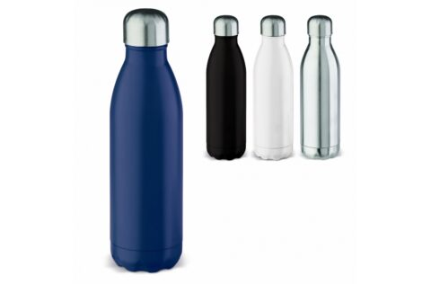 Leak-free vacuum insulated drinking bottle that keeps hot drinks hot and cold drinks cold. Each packed in a gift box.