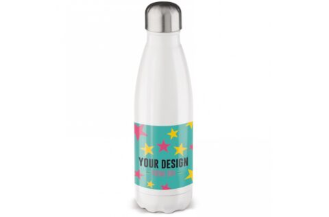 Leak-proof and stainless steel vacuum insulated drinking bottle that provides insulation for cold and hot drinks. The finish of the bottle provides an opportunity to apply sublimation printing on the product. Each packed in a gift box.