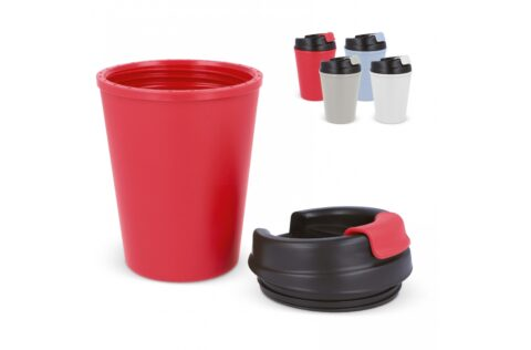 Coffee to-go mug that is ideal to take with you on the go. This model fits underneath every coffee machine and because it is a thermo mug, it keeps drinks well on temperature.