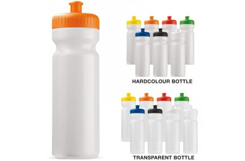 Water bottle, made in Europe from 95% organic plastic made of sugar cane. The bottle complies with the strictest food safety regulations and is completely taste and smell neutral, leak-proof and 100% recyclable.
