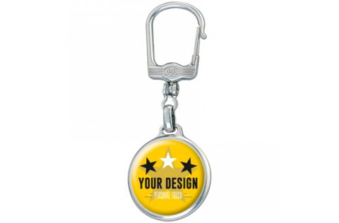 Metal round keyring with double sided doming.