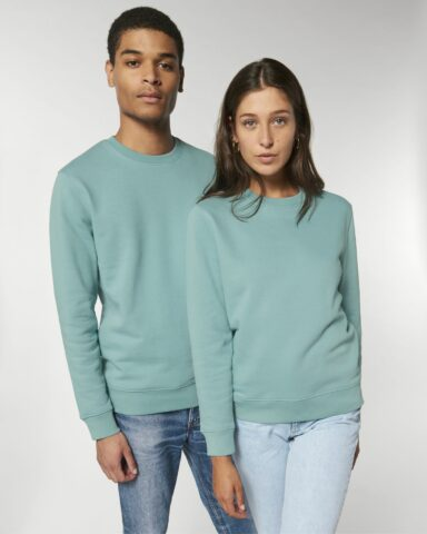 Sweatshirts Unisex Teal Monstera