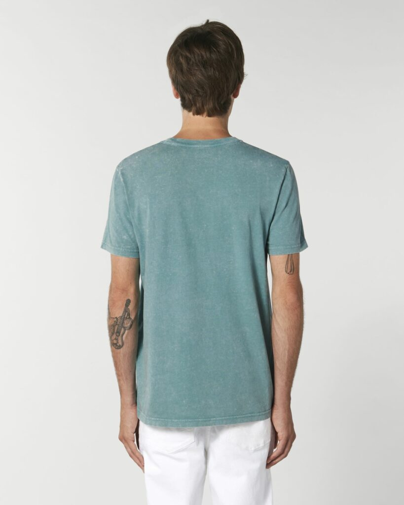Tees Unisex G. Dyed Aged Teal Monstera